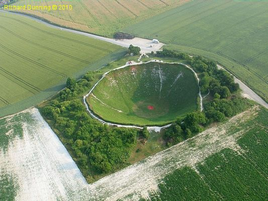 The Lochnagar Crater in Somme, France